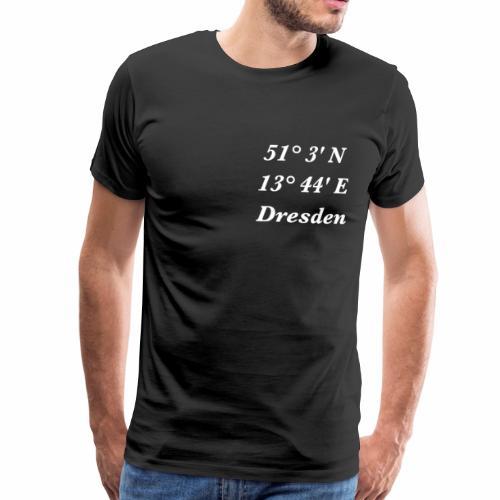Dresden mit Koordinaten - Männer Premium T-Shirt
