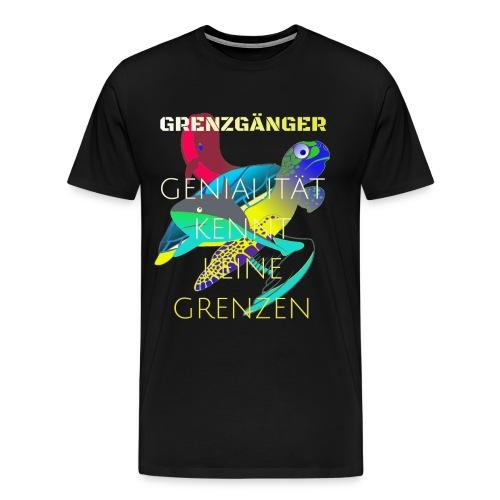 genialitaet kennt keine grenzen - Männer Premium T-Shirt