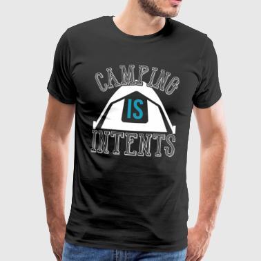 Leiri on tarkoitus - Miesten premium t-paita