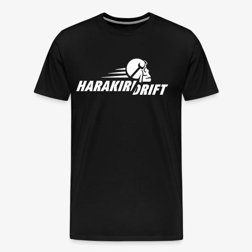Harakiri Drift Logo Weiss - Männer Premium T-Shirt
