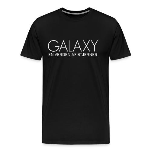 En verden af stjerner HVID - Herre premium T-shirt