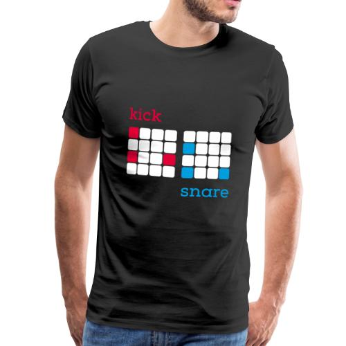 Kick Snare Drum-Machine Drummer Beatmaker DAW - Männer Premium T-Shirt