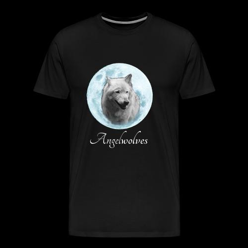 Weisser Wolf Angelwolves - Männer Premium T-Shirt