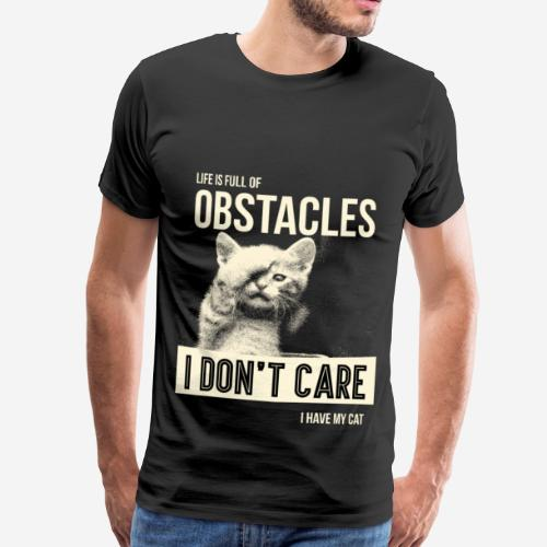 Life is full of obstacles - Koszulka męska Premium
