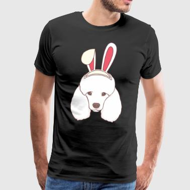 Poodle Easter Bunny Coniglietto felice regalo di Pasqua - Maglietta Premium da uomo