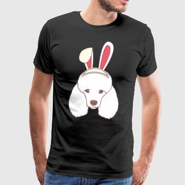 Pudel Easter Bunny Happy Easter Bunny prezent - Koszulka męska Premium