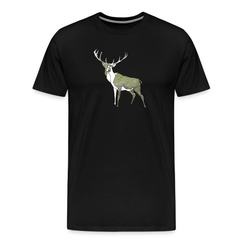 Polygon Deer - Männer Premium T-Shirt