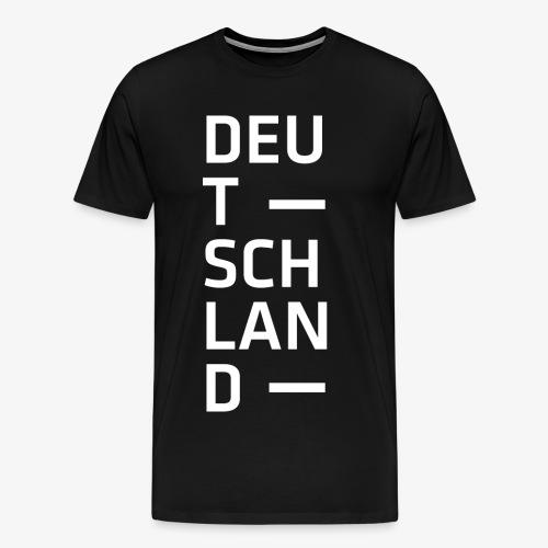 Deutschland Typo T Shirt Spruch weiss - Männer Premium T-Shirt