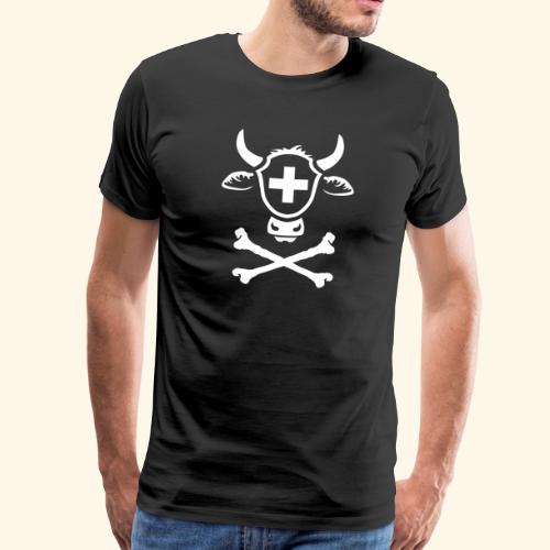 Schweiz Skull Swiss Pirate - Männer Premium T-Shirt