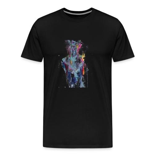 painting half man - Maglietta Premium da uomo