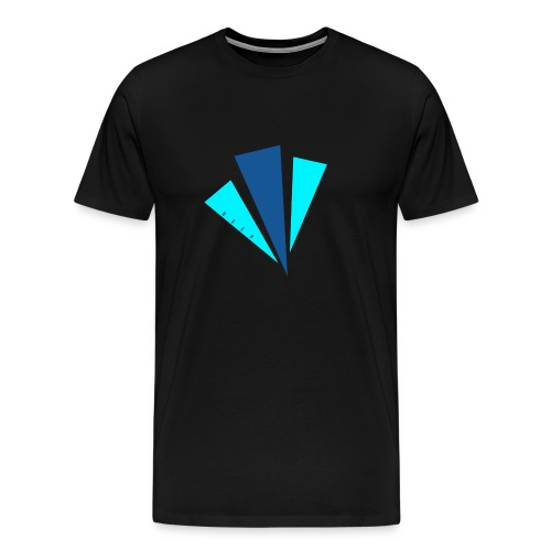 Blauwe objecten ontwerp - Mannen Premium T-shirt