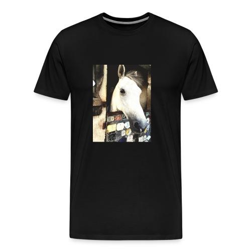 wit paard - Mannen Premium T-shirt