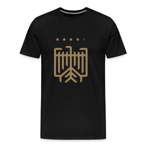 Deutsches WM T-Shirt (gold) - Männer Premium T-Shirt