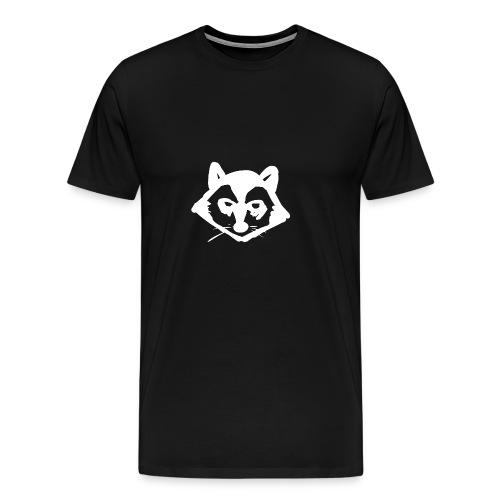 Tvättbjörn Logo Weiß mit schwarzer Umrandung - Männer Premium T-Shirt