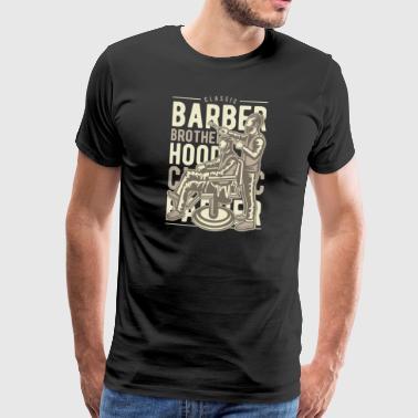 Barber Brotherhood - Premium T-skjorte for menn