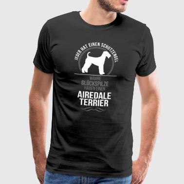 AIREDALE TERRIER Schutzengel Wilsigns - Männer Premium T-Shirt