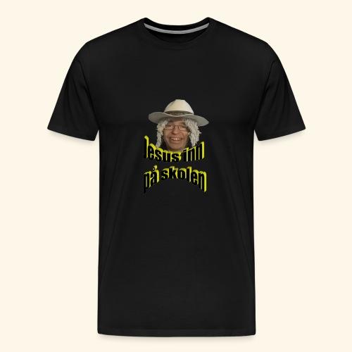 Jesus inn på skolen - Premium T-skjorte for menn