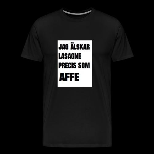 Affe älskar lasagne - Premium-T-shirt herr