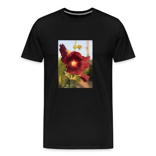 Red Hollyhock - Men's Premium T-Shirt