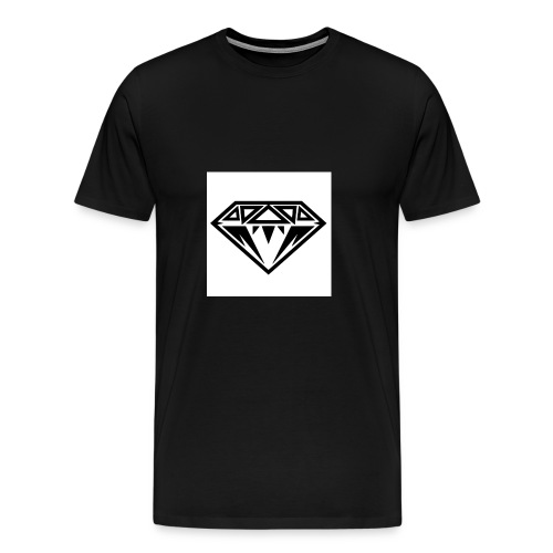 Diamond-Black-e1368735776972 - Men's Premium T-Shirt