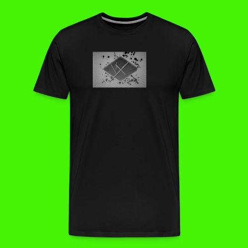 white,gray and black vX logo - Men's Premium T-Shirt