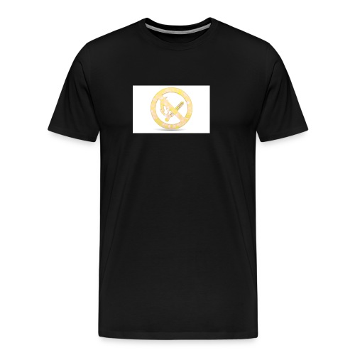 Feuerverbot gelb - Männer Premium T-Shirt