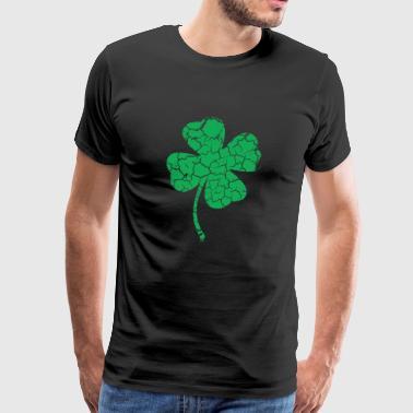klöverblads - Premium-T-shirt herr