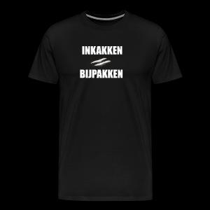INKAKKEN IS BIJPAKKEN - Mannen Premium T-shirt
