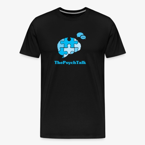 The Psych Talk Logo - Jigsaw Brain - Men's Premium T-Shirt