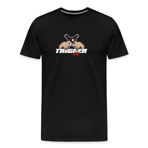 Trigger Weiß großes Logo - Männer Premium T-Shirt