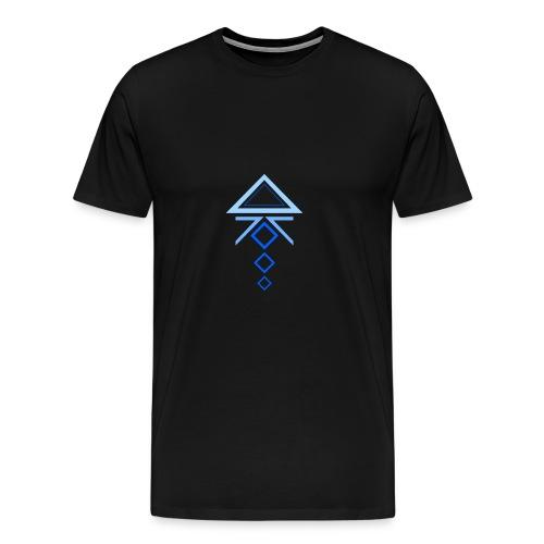 triangoli azzurri - Maglietta Premium da uomo