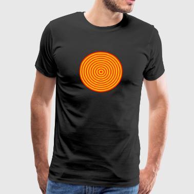Abstract Psicodelic logo - Premium-T-shirt herr