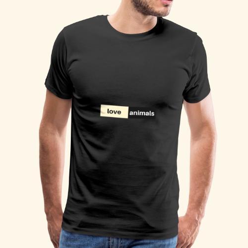 Love Animals - Männer Premium T-Shirt