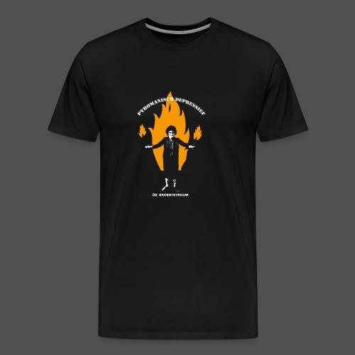 Pyromanisch Depressief (v) - Mannen Premium T-shirt
