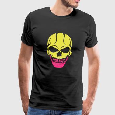 skrämmande död huvud halloween skalle ritning 2809 - Premium-T-shirt herr