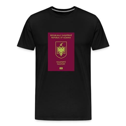 Albanischer Reisepass - Männer Premium T-Shirt