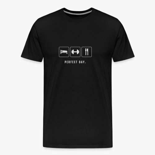 Perfect Day (Sleep, Train, Eat) - Männer Premium T-Shirt