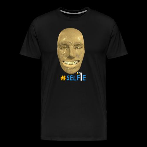Gold Gesicht mit Zahndiamant - Männer Premium T-Shirt