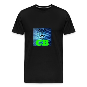CB Classic Musematte (hvit) - Premium T-skjorte for menn