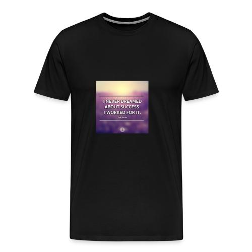 1440698865_graphic-quote-estee-lauder - Herre premium T-shirt