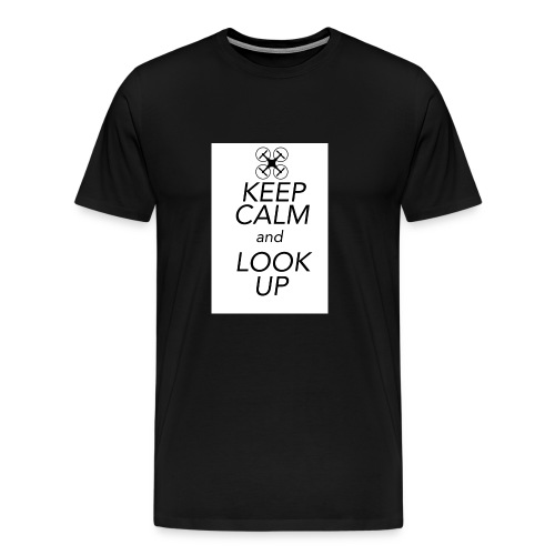Keep Calm and Look Up - Mannen Premium T-shirt