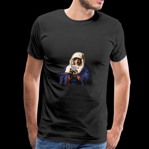 Virgin Maria Playing NDS - Männer Premium T-Shirt