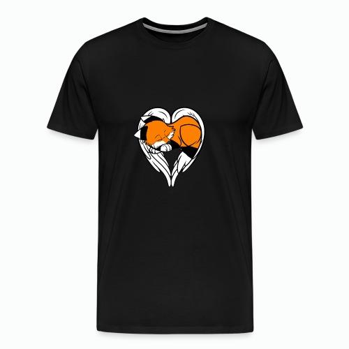 Schläfriger Engel Fluffy - Männer Premium T-Shirt