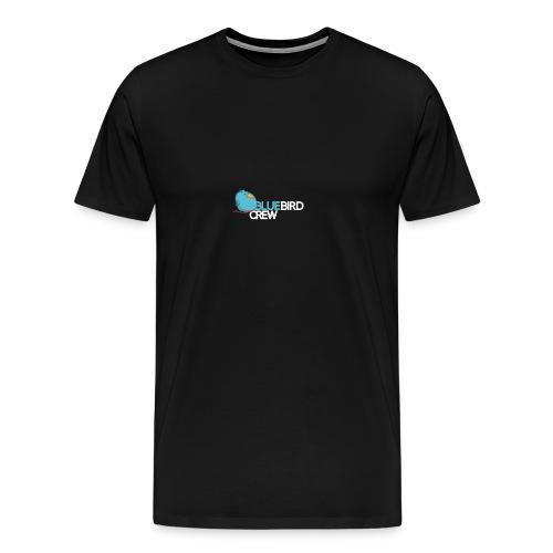 BlueCird Logo White - Männer Premium T-Shirt