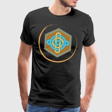 Celtic knude hammer farve - Herre premium T-shirt