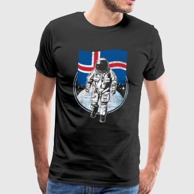 Islande drapeau dans l'espace - T-shirt Premium Homme