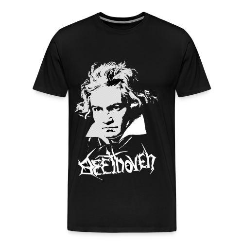 Beethoven rocks - Mannen Premium T-shirt