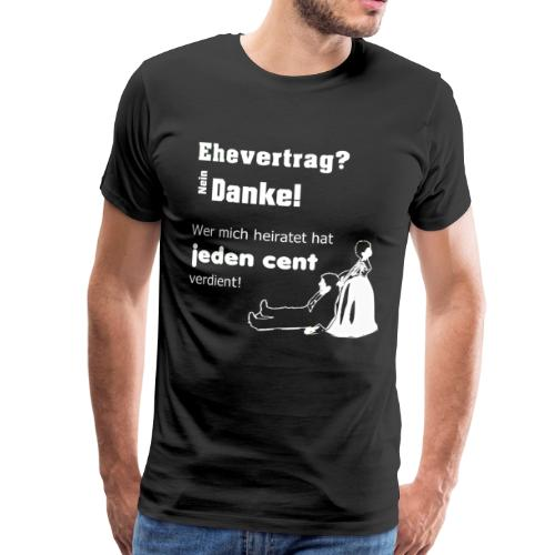 Ehevertrag - Männer Premium T-Shirt