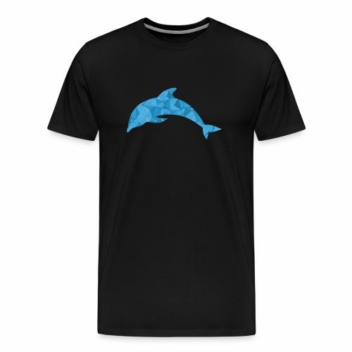 Delfin Mosaik Säugetier Unter Wasser Shirt - Männer Premium T-Shirt