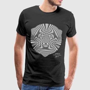 Circle 2 3 V2 N - Premium T-skjorte for menn